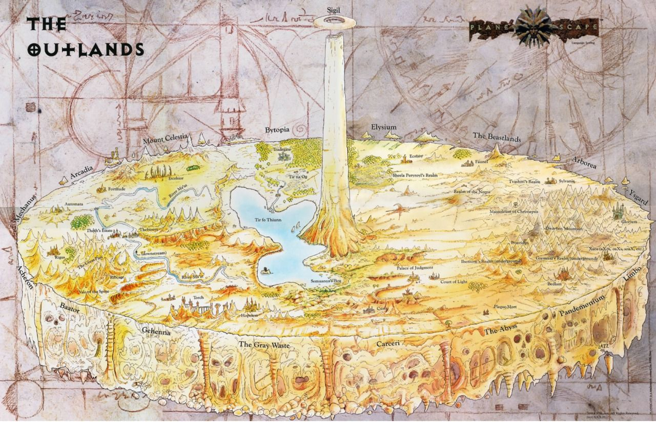 The Outlands (Planescape) | Fantasy map, Dungeons and dragons ...
