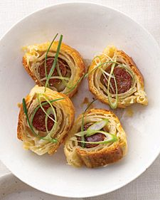 Chinese Sausage in a Blanket - Martha Stewart Weddings Food and Cooking