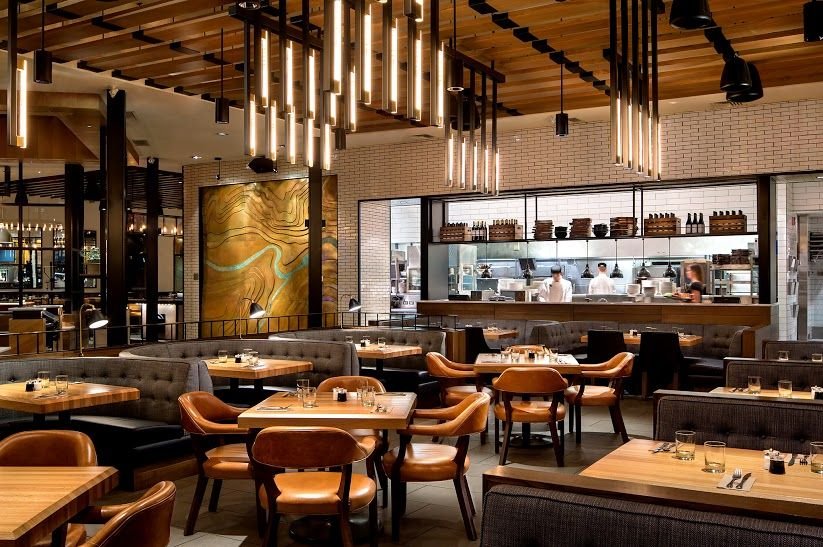 Earls Calgary Tin Palace Dining Room View Into The Kitchen Custom