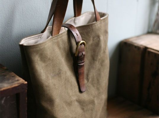 Recycled Canvas Tote Bag - made from a World War II-era military ...