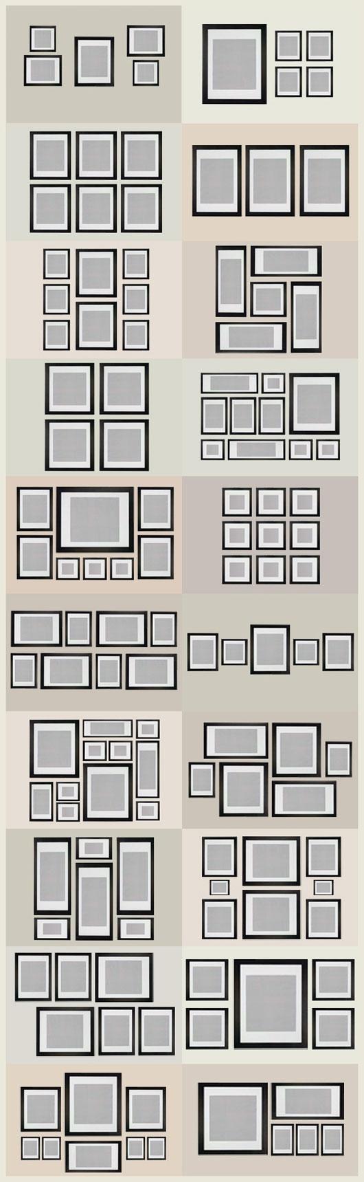 Algunas ideas para organizar cuadros en la pared | Pinterest ...