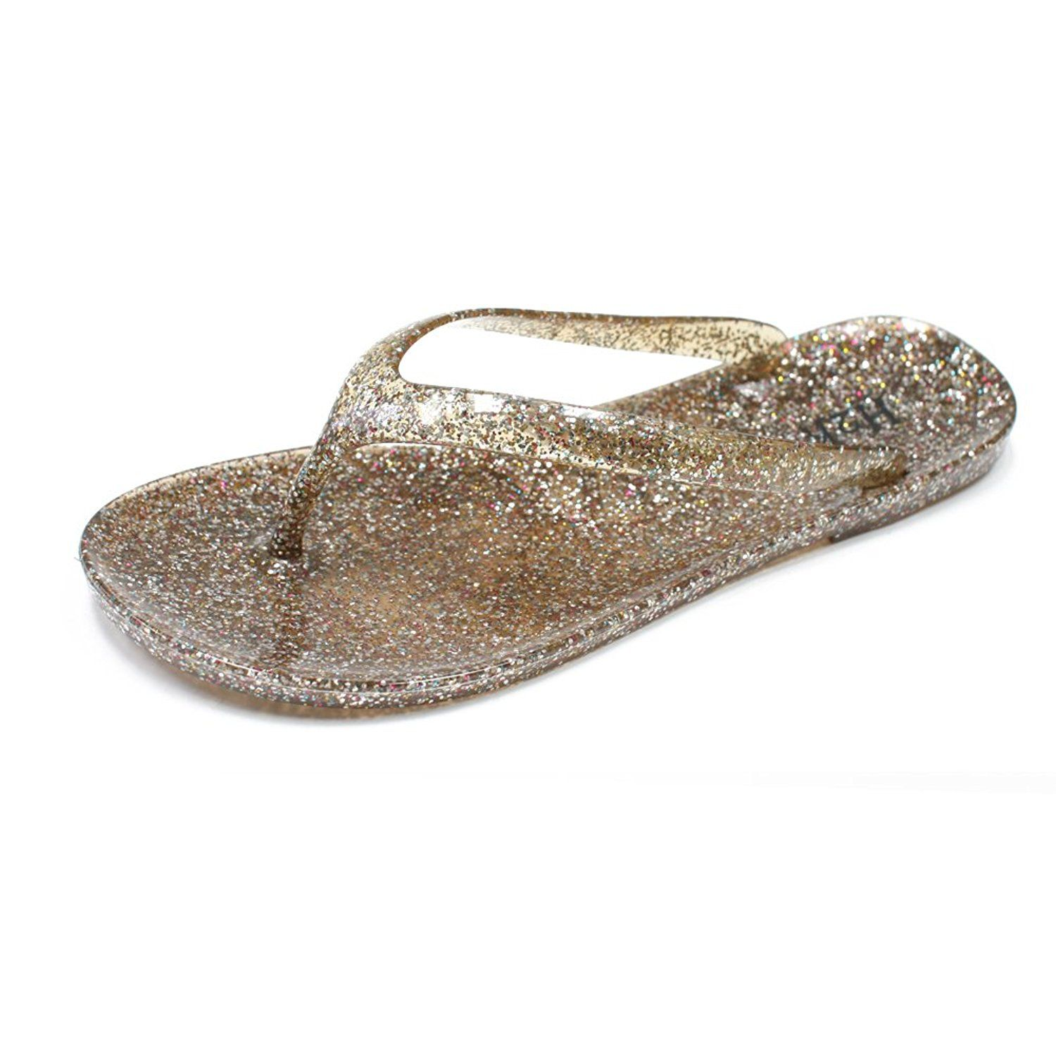 e861428a84c92 H2K  EVE  Women s  Waterproof  Glitter Jelly Slip-On Flip-Flops  Thong  Sandals  Slippers Shoes   Hurry! Check out this great product   Jelly  Sandals