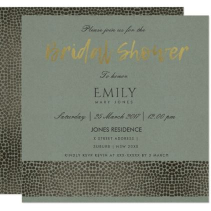 GLAMOROUS COPPER GOLD DOTS MOSAIC BRIDAL SHOWER CARD - formal
