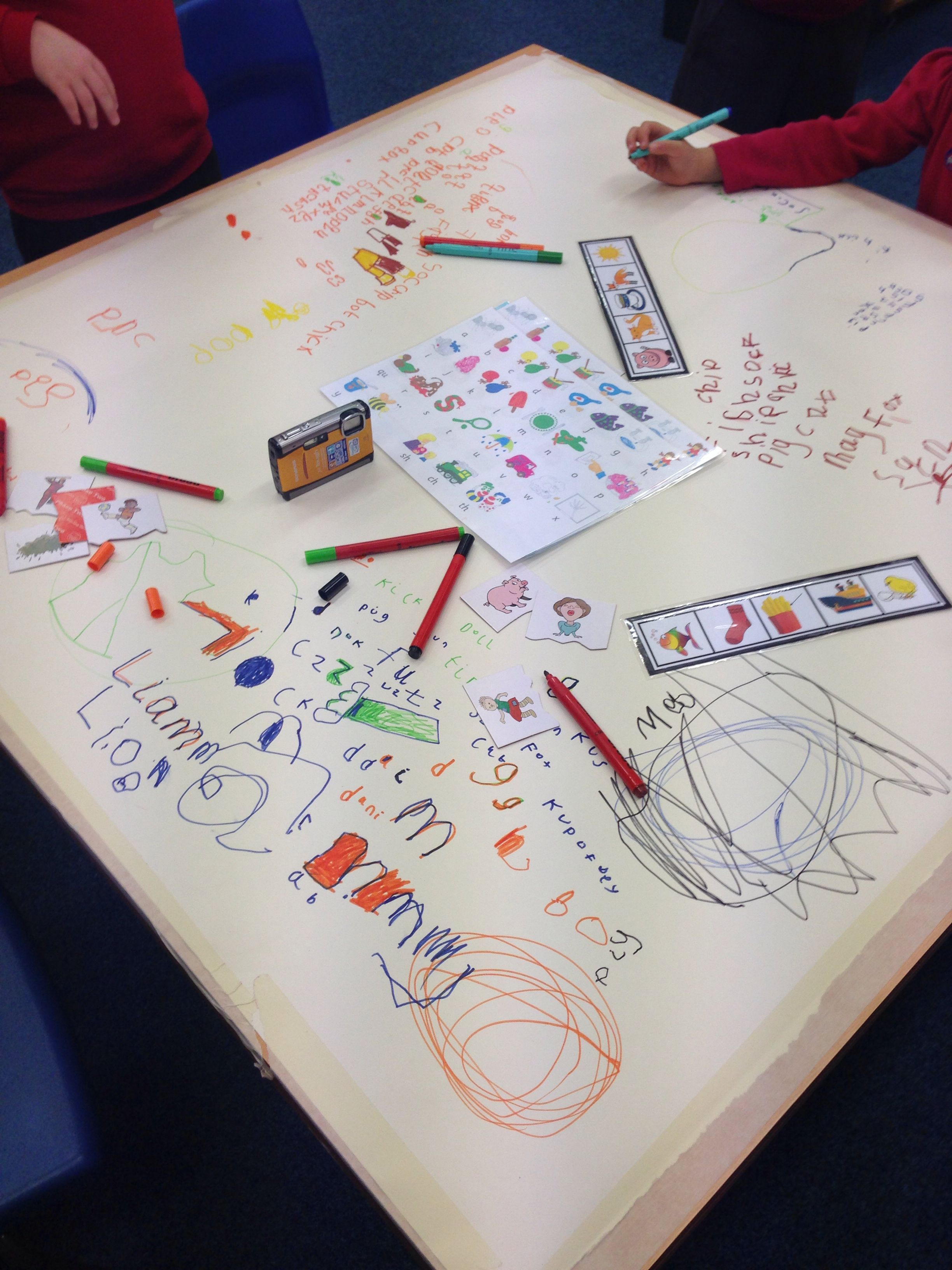 Children Loved The Free Writing Phonics Table Lots Of Independent Word Building