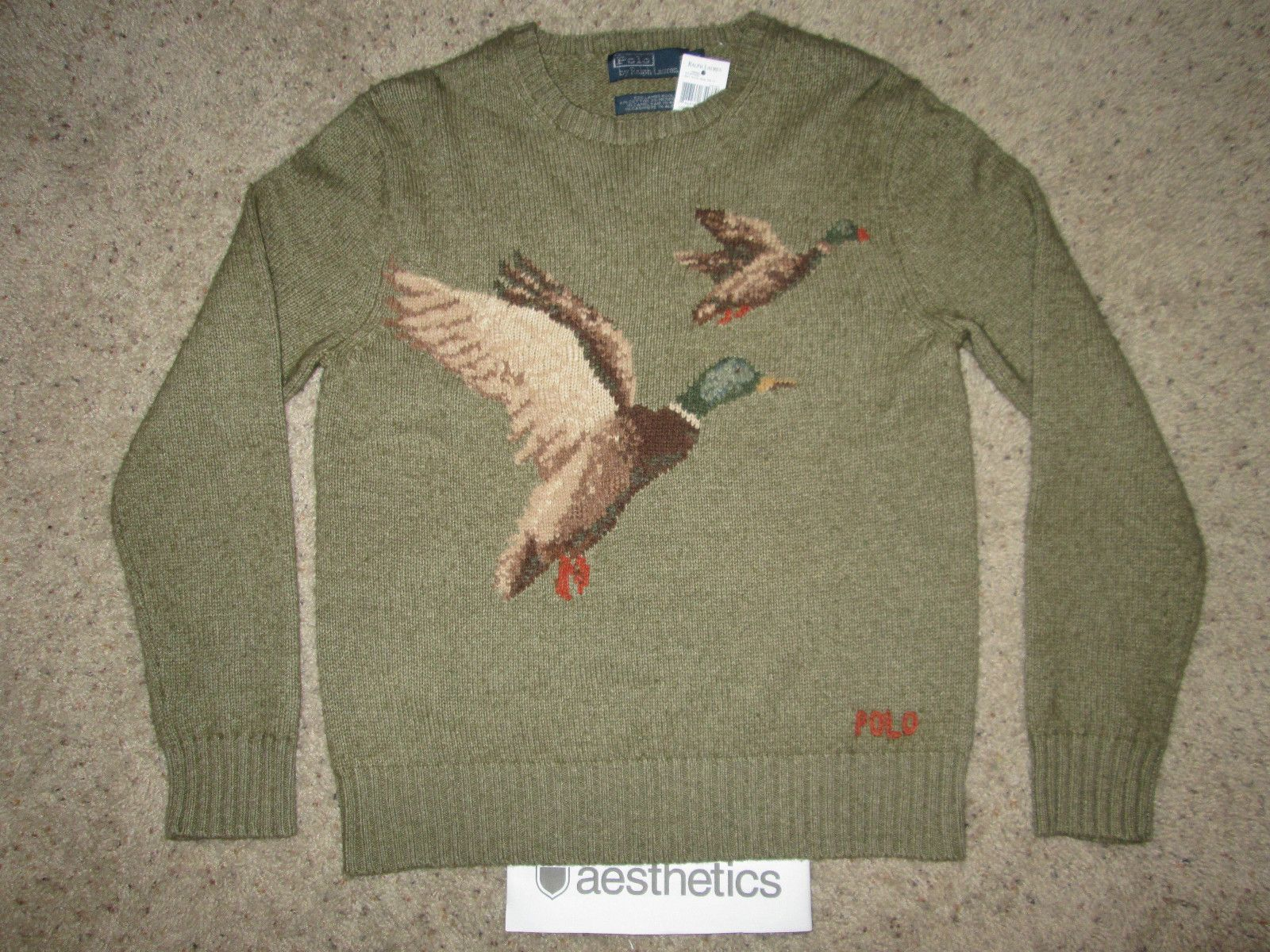 c8115f7c4fd New Vtg Ralph Lauren Polo Sportsman Sport Duck Sweater Shirt Bear Stadium  92