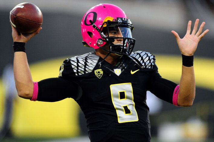 In honor of October being Breast Cancer Awareness Month the Oregon Ducks  the school that is famous for having the most combinations of Uniforms  courtesy of ... f191c5ae8