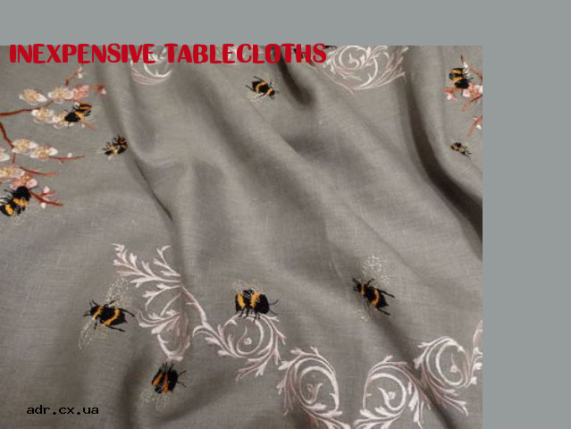 inexpensive tablecloths