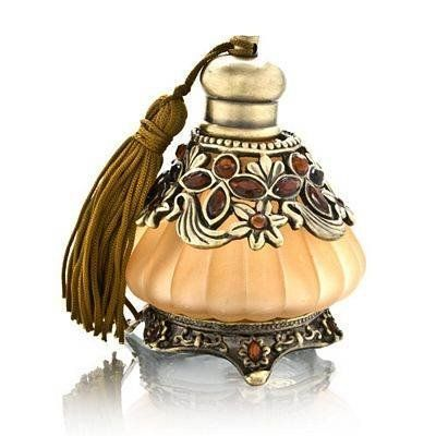 Decorative Perfume Bottle With Amber Jewels Model No. PB-750
