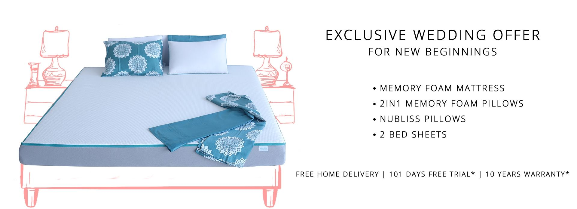 Nubliss Memory Foam Mattress In Chennai Is Delivered At Your Door
