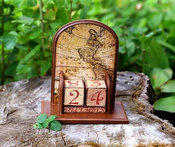 World map desk accessory men gift old world map wooden desk calendar world map desk accessory men gift old world map wooden desk gumiabroncs Gallery