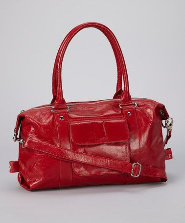 Take a look at this Red Pocket Leather Crossbody Bag by Latico Leather on #zulily today!
