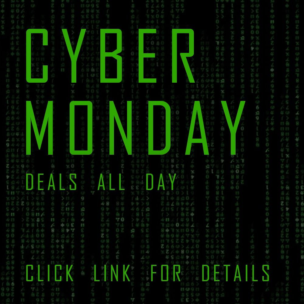 Cyber Monday deals available all day long! holiday