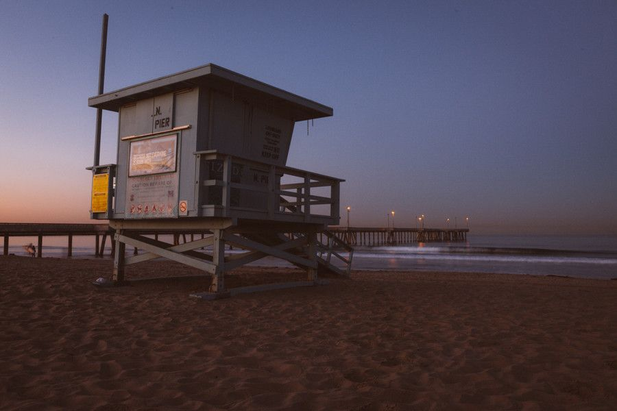Venice Lifeguard Tower. #beach #venicebeach #sunrise