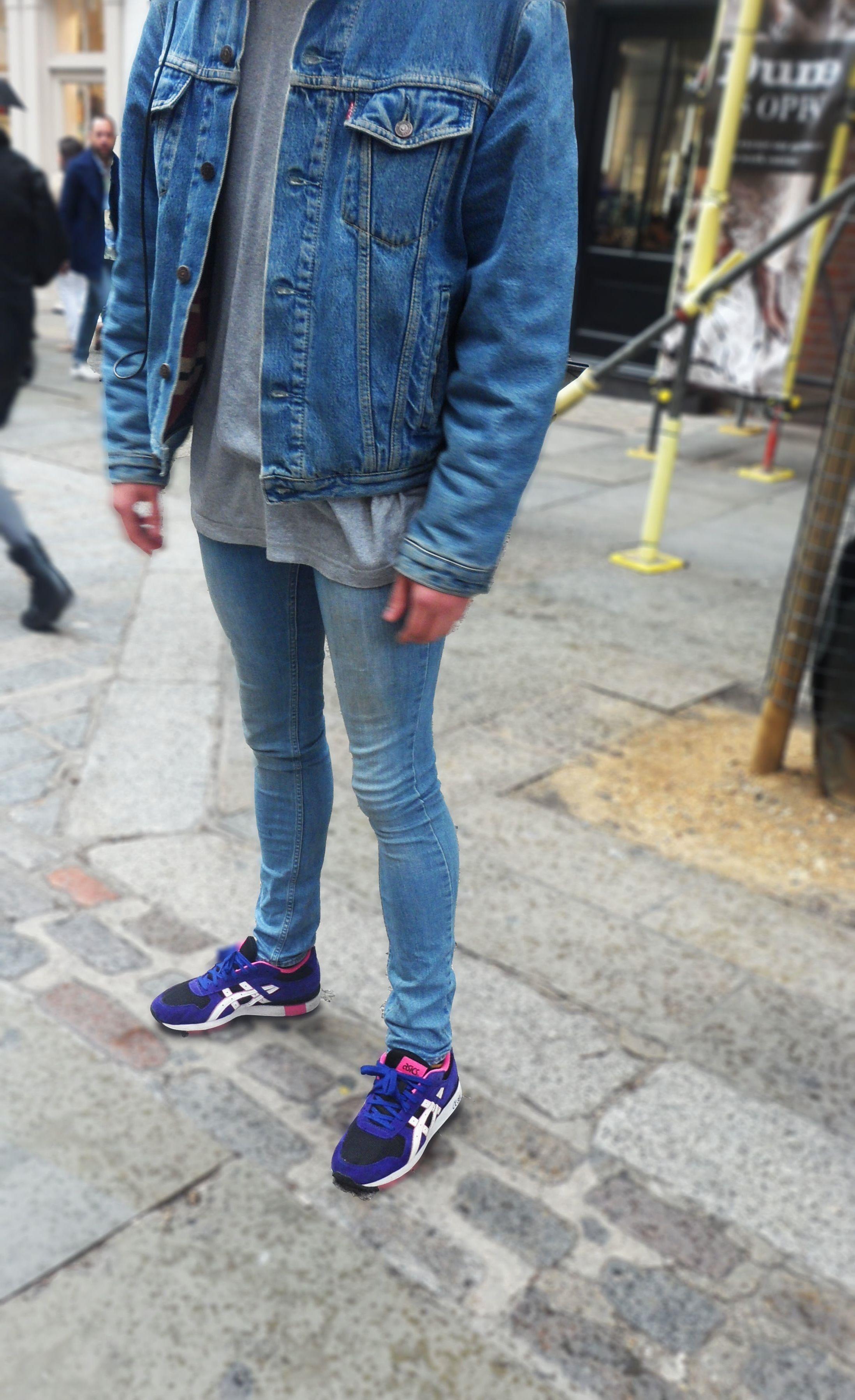 Double Denim #denim #levi #skinnyjeans #trainers #denimjacket #menswear #streetstyle #london
