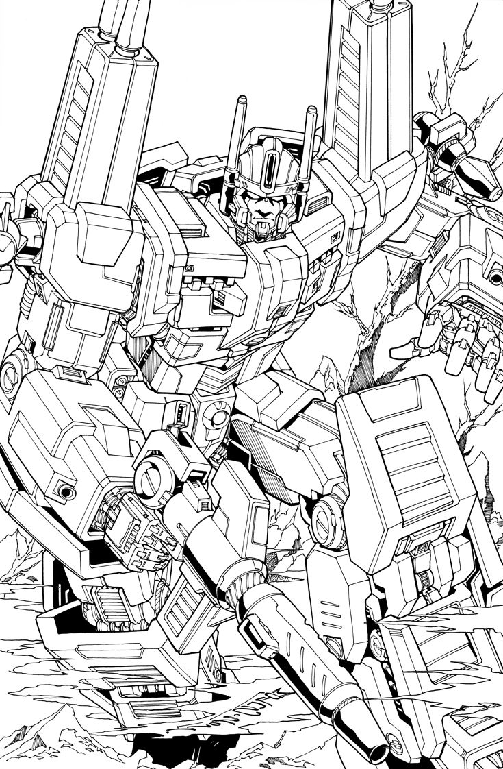 Ultra Magnus Lineart By Markerguru On Deviantart Transformers Coloring Pages Transformers Artwork 80s Cartoons