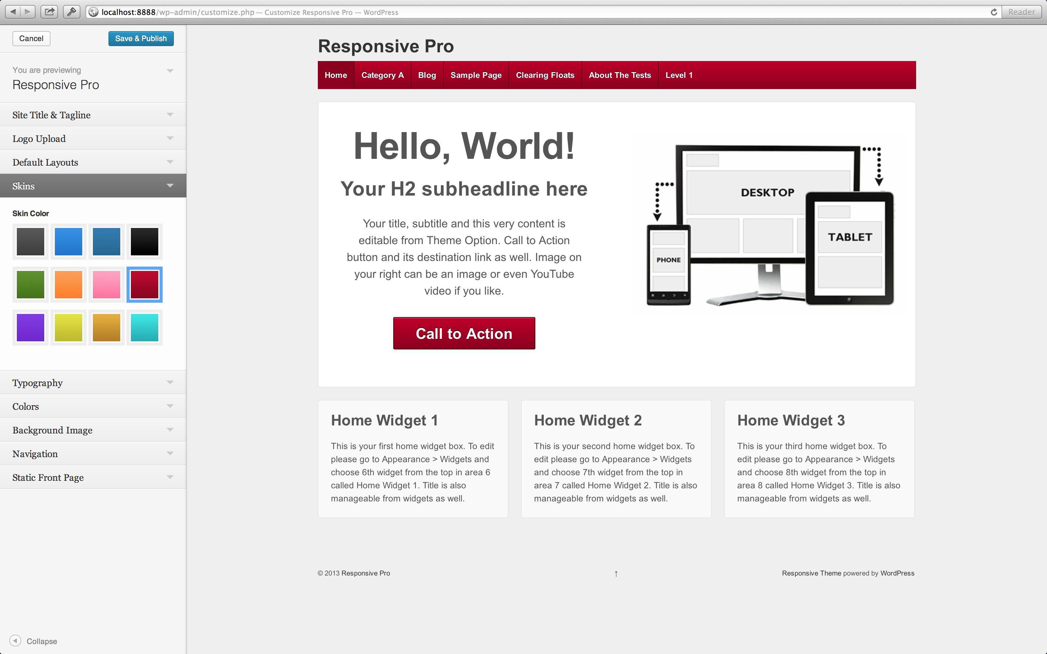 Responsive Pro WordPress Theme ProThemeResponsive AD