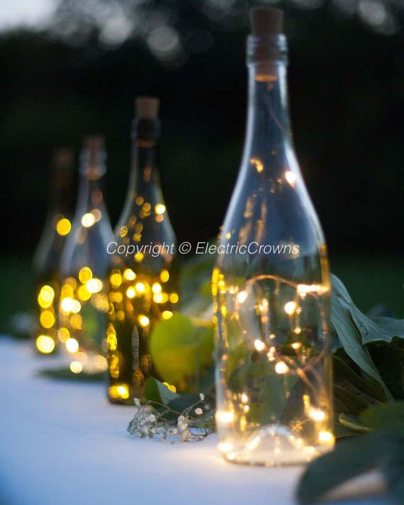 Outdoor Patio Party Lighting Outdoor Party Dinner Table Lights Diy Centerpieces Led Lights For Wine Bottles In 2020 Wedding Centerpieces Diy Wine Bottles Wine Theme Wedding Wine Centerpiece