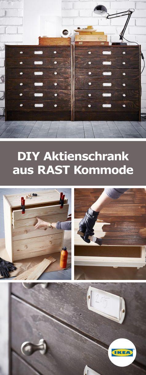 ikea deutschland diy aktienschrank aus rast kommode selber machen pinterest. Black Bedroom Furniture Sets. Home Design Ideas