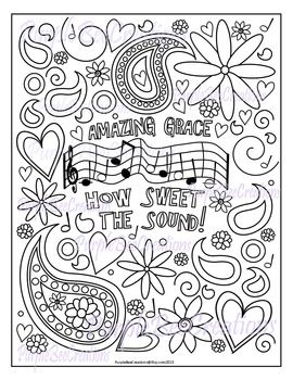 Coloring Page Amazing Grace Hymn Coloring Page Coloring