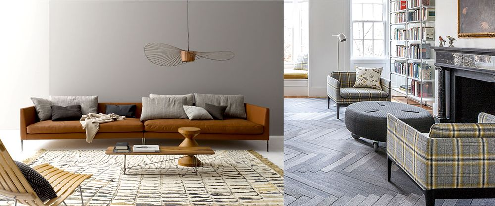 Floor Texture Imitating Rugs Living Room 2018 Interior  · Living Room DesignsDesign  TrendsPhoto ...
