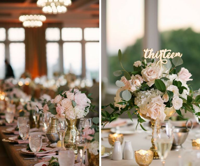 Pink And Gold Wedding Decorations: Blush Pink And Gold Garden Inspired Downtown St. Pete