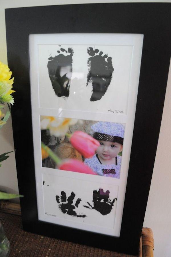 5 regalos del d a del padre con fotos de los peques d a - Cuadros de pies ...