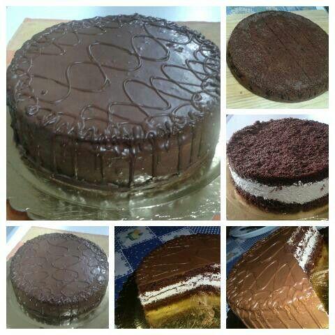 #Kinder B-day cake #torta kinder #camy cream