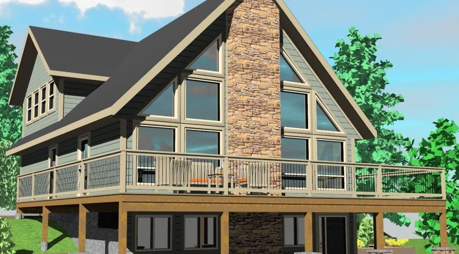 The sylvan lake prefab cabin and cottage plans winton for Prefab lake homes