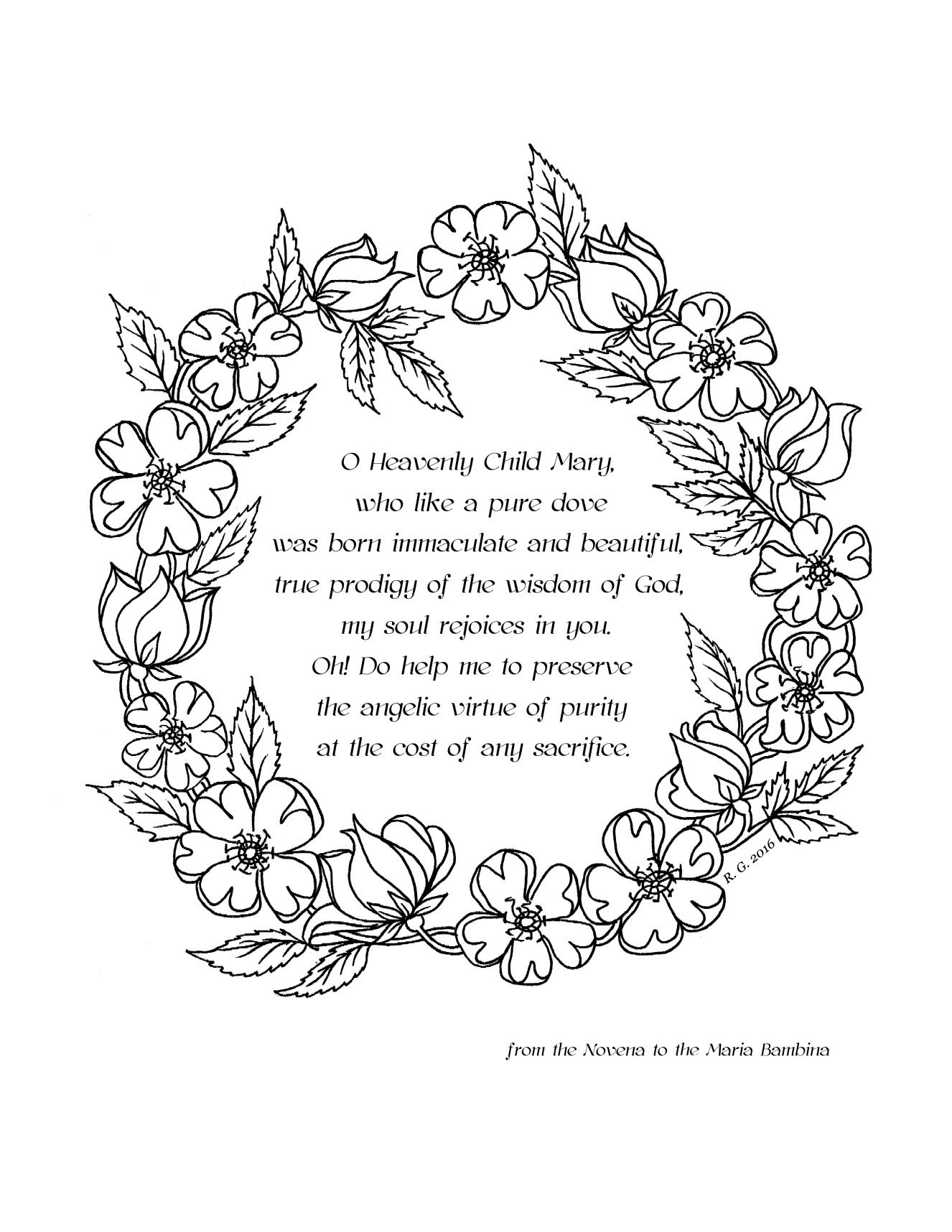 Our Lady S Birthday Coming On Sept 8th Catholic Coloring Pages