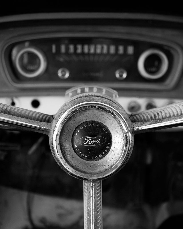 Classic car art 8x10 black and white print home decor for 8x10 bedroom ideas