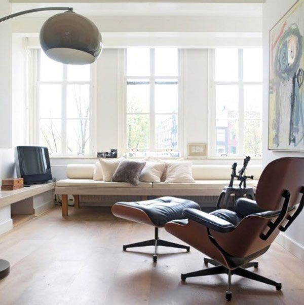 Eames Lounge Chair schwarz - POPfurniture EAMES LOUNGE CHAIR - moderne mobel wohnzimmer