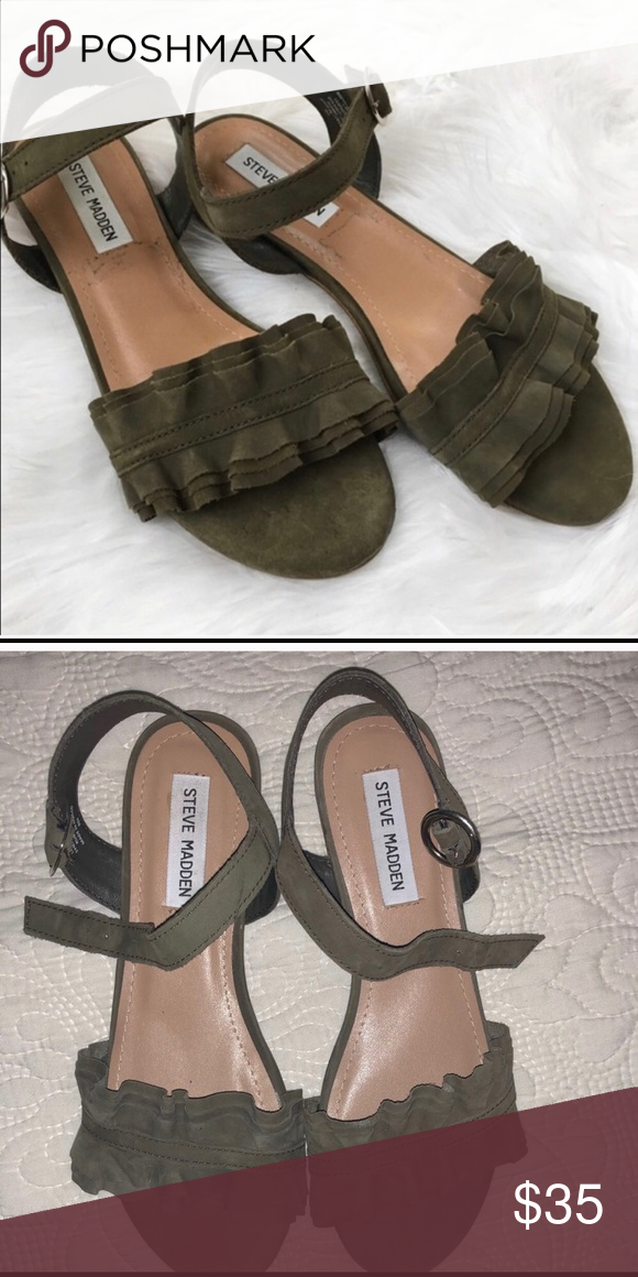 e0f331c5dd0 Steve Madden SHOES Olive green Super CUTE green Steve Madden sandals. Brand  new without tags. Great for work!!! Fast shipping! Steve Madden Shoes  Sandals