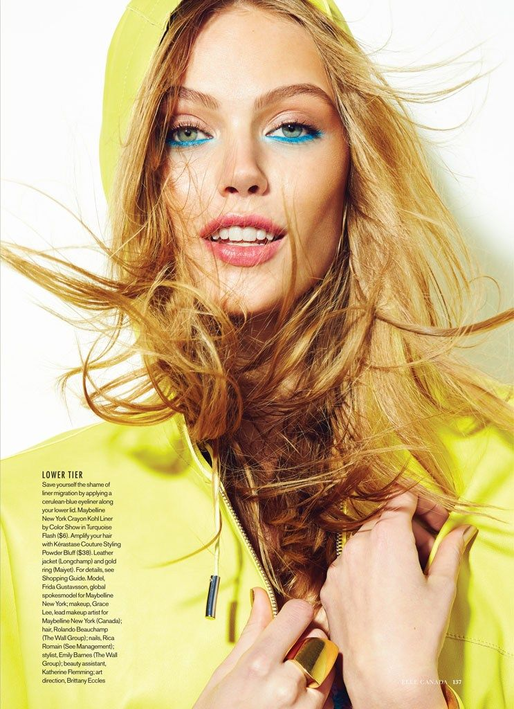 visual optimism; fashion editorials, shows, campaigns & more!: heat rises: frida gustavsson by max abadian for elle canada june 2014