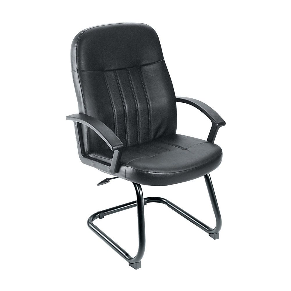 Boss Budget Leather Guest Chair Black Officerocking