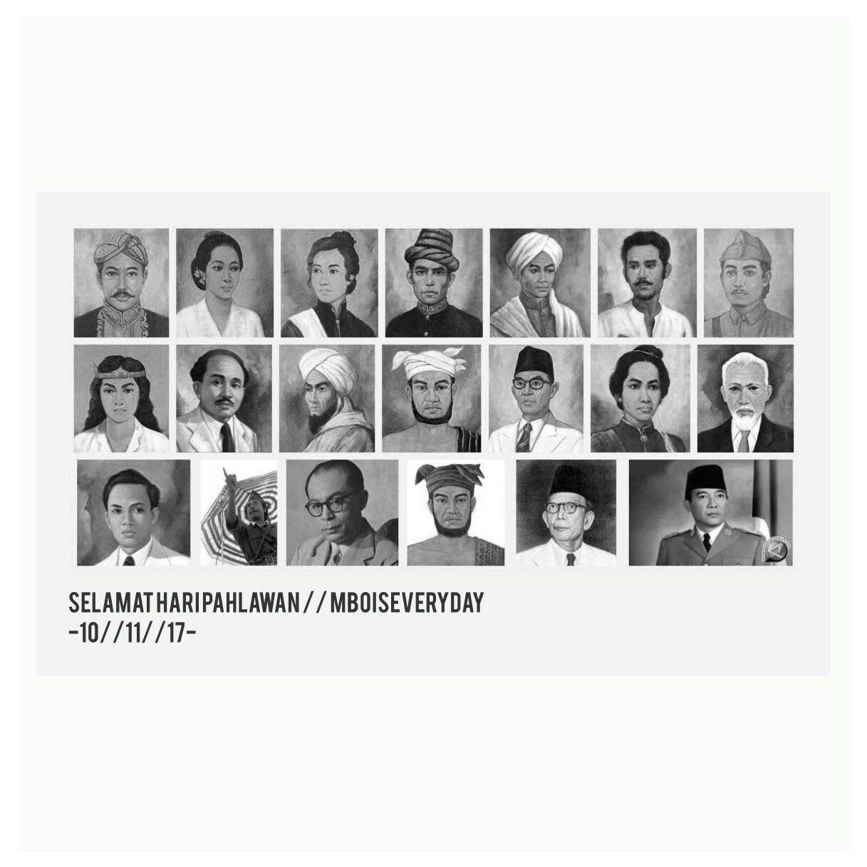 Gambar Wajah Pahlawan Indonesia