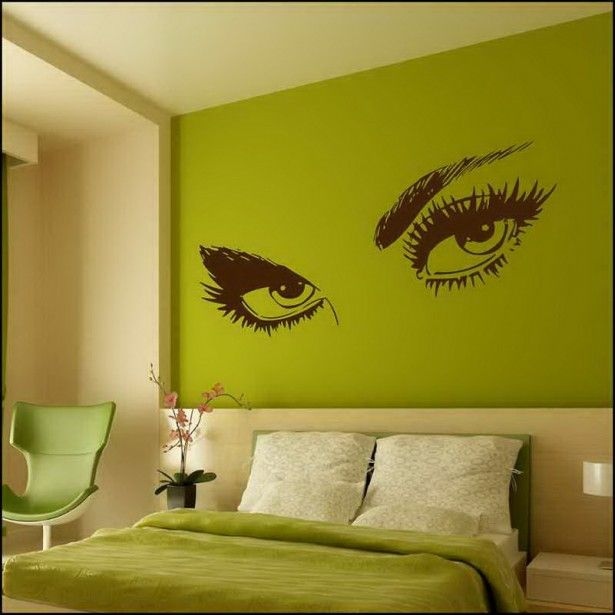 decorative wall painting patterns | bedroom wall mural interior