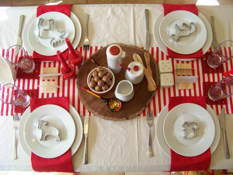 Idee Deco Table Noel Rouge Et Blanc #7: Pinterest