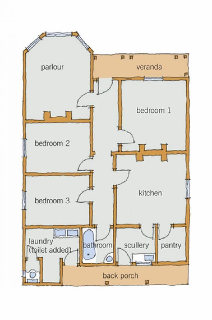 Layout of large Victorian villa New Zealand | Villa renovations ...