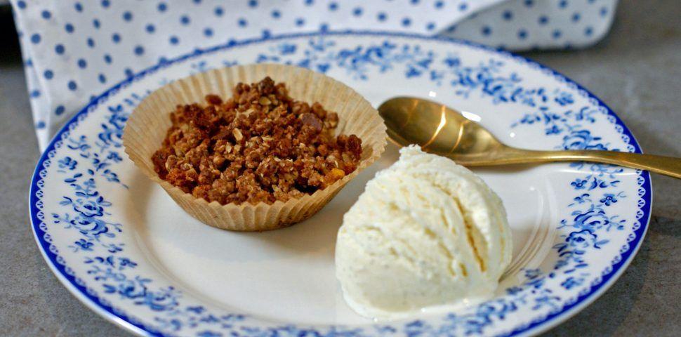 Eplecrumble Muffins Med Havregryn Muffins Havregryn Dessert Ideer
