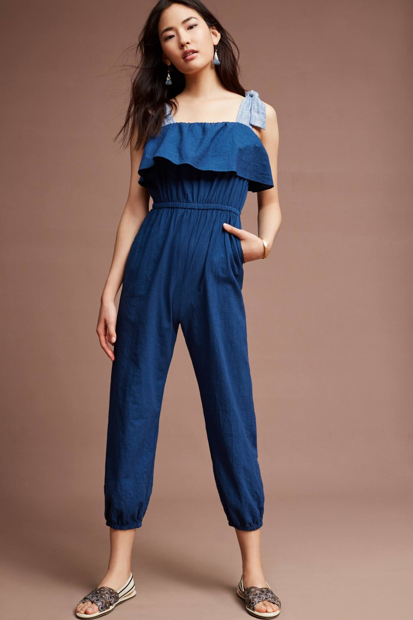 fa787dbc54b Shop the Torrance Tie-Shoulder Jumpsuit and more Anthropologie at  Anthropologie today. Read customer reviews