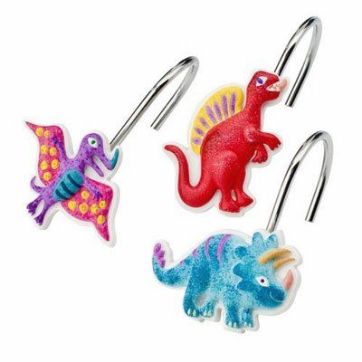 Amazon Dinosaur Friends Kids Colorful Bathroom Shower Curtain Hooks Set Of 12 Home Kitchen
