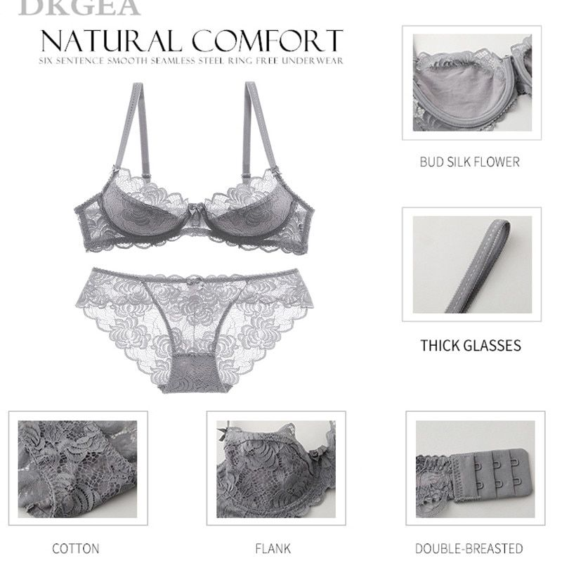 31aa72fe03aba Hollow Sexy Bra Ultrathin Underwear Set Plus Size C D Cup Women Transparent  Bra Sets Lace Embroidery ...