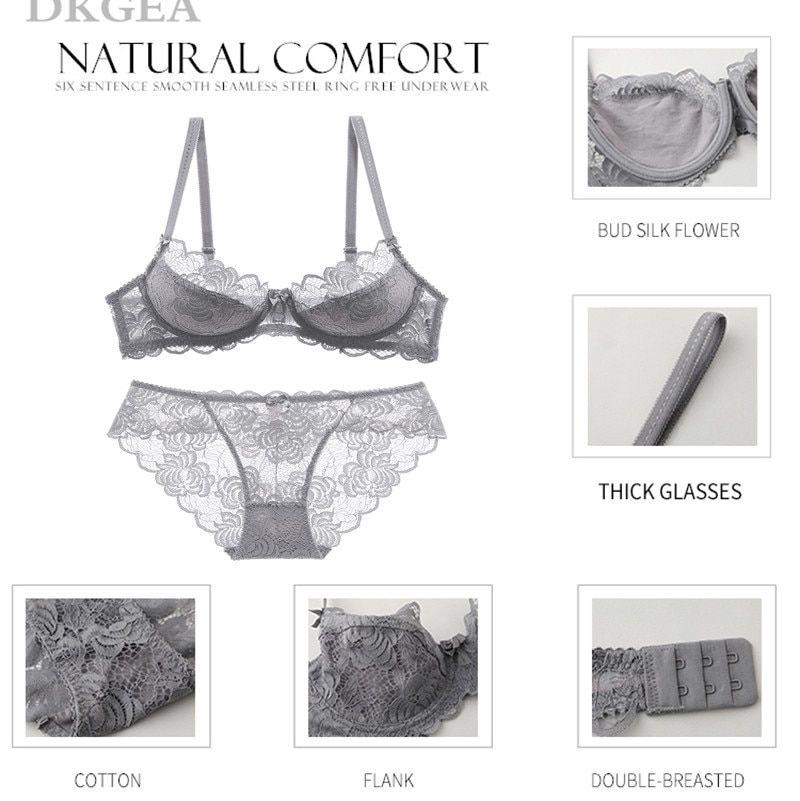 7d6a41b064 Hollow Sexy Bra Ultrathin Underwear Set Plus Size C D Cup Women Transparent Bra  Sets Lace Embroidery ...