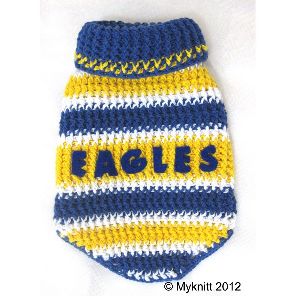 f386b3f34d9 West Coast Eagles Australian Football Club Footy by myknitt #dogcostume # football #westcoasteagles #crochet #dogs #pets #petclothes