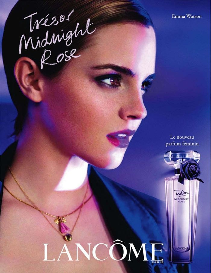 Emma Watson For Lancome Tresor Midnight Rose Fragrance By Mario