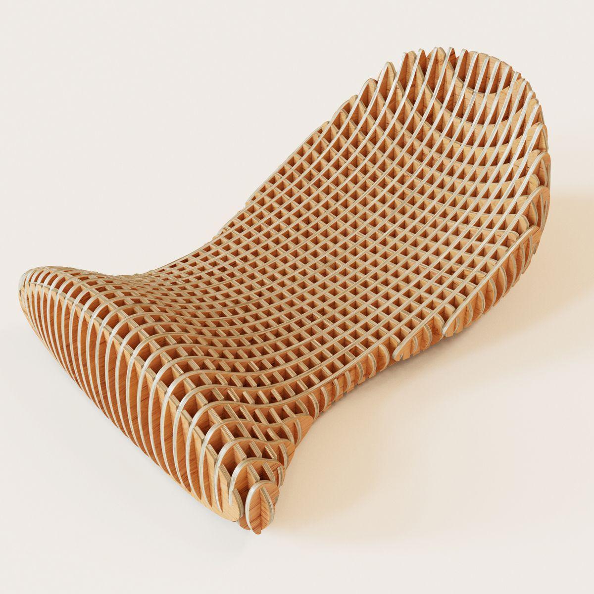 3D Model Parametric Bench Twinpea | Outdoor Furniture 3D Models | Beskor    3D Squirrel