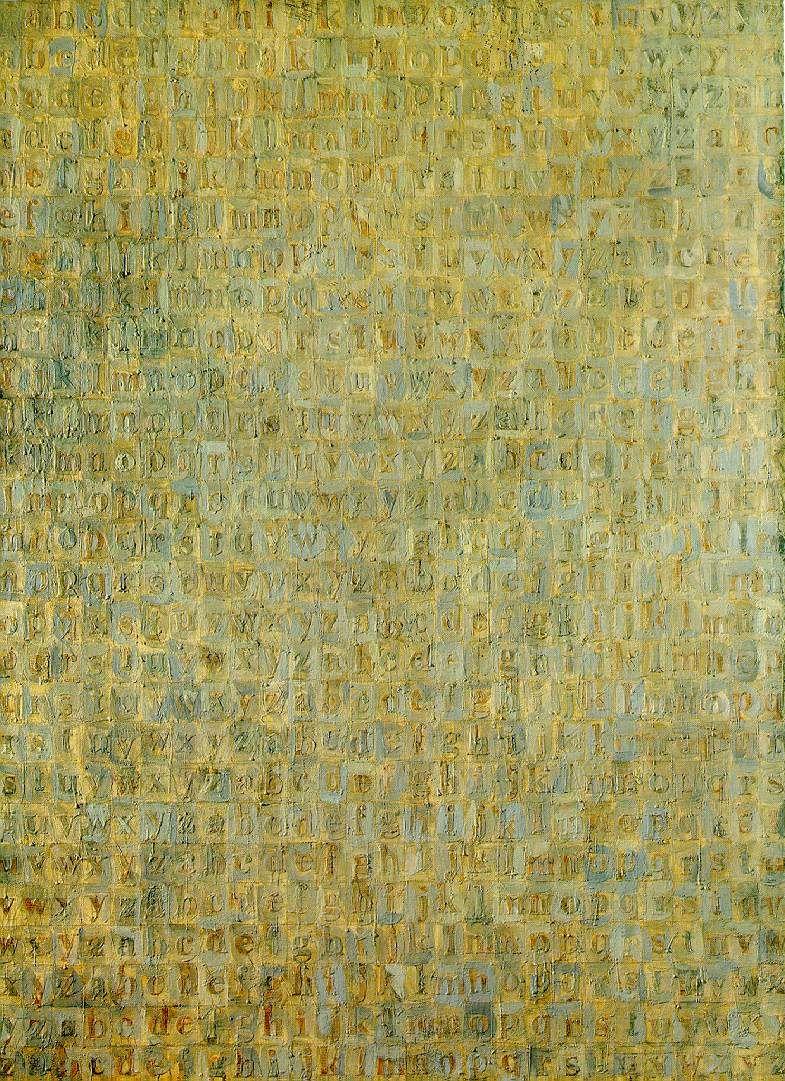 jasper johns- grey alphabet, 1956. Art Experience NYC www ...