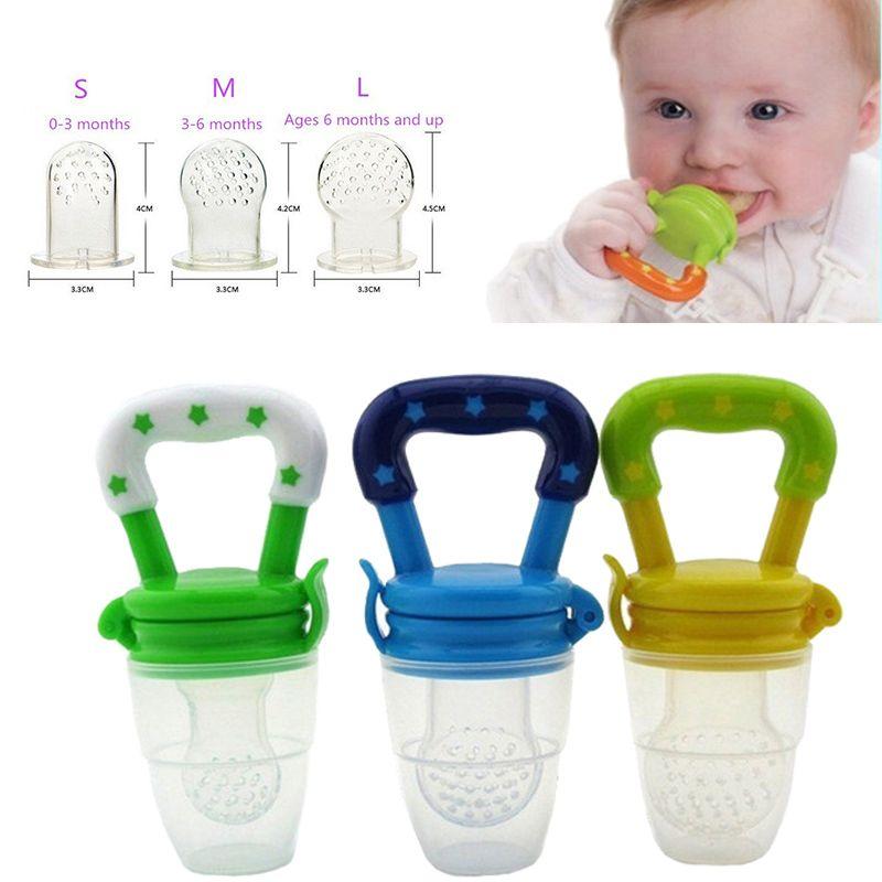 Momy 천사 안전 아기 병 크기 SML 4 색 젖꼭지 신선한 식품 우유 니 블러 피더 먹이 도구 어린이 날 선물