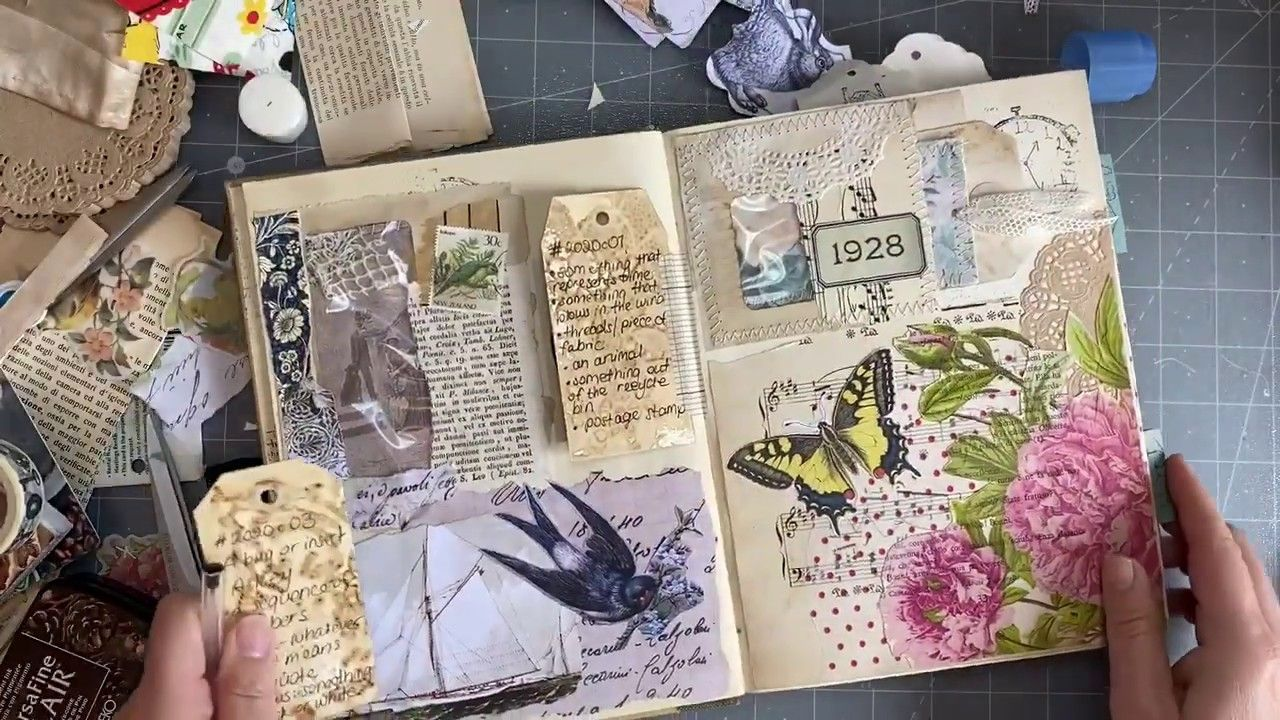 Journal Bird Journal DIY Kit Junk Journal Smash Book -EZ-7001