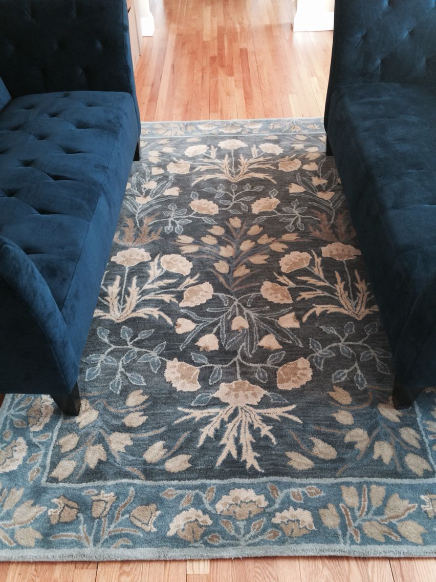 Blue Adeline Rug From Pottery Barn It S Everything I Wanted To Be Paired With 2 Navy Lizbeth Apartment Sofas Macy